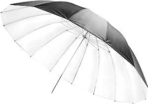 Walimex 180cm Reflex Umbrella Black White Camera Photo