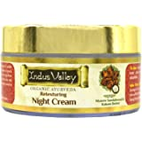 INDUS VALLEY Organic Night Cream with Mysore Sandalwood & Kokum Butter For Face and Skin - (50ml)