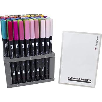 confezione da 6 include punta per sfumature Tombow ABT colori delloceano Pennarello con due punte