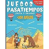 Juegos Pasatiempos Lógica y enigmas: Para niños 7-10 años - Más de 200 juegos - Rompecabezas, enigmas, logicà, sopas de letra