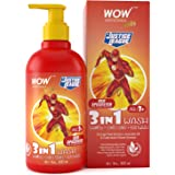 WOW Skin Science Kids 3 in 1 Wash - Shampoo + Conditioner + Body Wash - Red Speedster Flash Edition - No Parabens, Color, Min