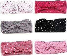 Jmitha 6 Stück Baby Stirnbänder verknotete Baby Stirnband Baby Top Knot, Baby Turban, Mädchen Headwrap Knot Stirnband Kleinkind Stirnband Vor Ort Kaninchenohren Knit Head wraps