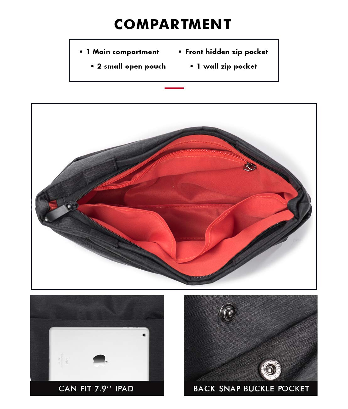 8d4d5931d0213 Borsa a Tracolla Uomo Borsello Piccolo Impermeabile Messenger Bag Casual  Borse a Spalla in Oxford Messaggero Sacchetto con Multi ...