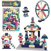 WISHKEY DIY Interlocking Building Blocks Plastic Puzzle Construction Creative Educational Toy Playset for Toddler Kids 3…