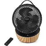 4UMOR Ventilateur Ultra Silencieux avec Télécommande 20dB 1823m³/h Moteur DC Brushless 12 Vitesses 8h Minuterie Turbo Ventila