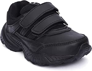 Campus Kids Black School Shoes | Unisex | 3-7 Year Old Kid| Durable