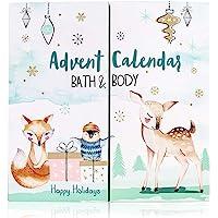 accentra Adventskalender Happy Holidays 2021 für Mädchen mit 24 Bade-, Körperpflege und Accessoires Produkten für eine…