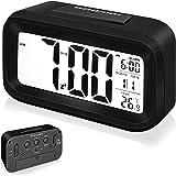 Arespark Despertador Digital, Reloj Alarma Electrónico con Luz de Noche, Pantalla LCD de 5.3 Pulgadas con Hora Fecha Temperat