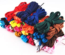 SUPVOX 12 Pairs Shoe Laces Replacement Shoelaces Strings for Shoes (Assorted Colors)