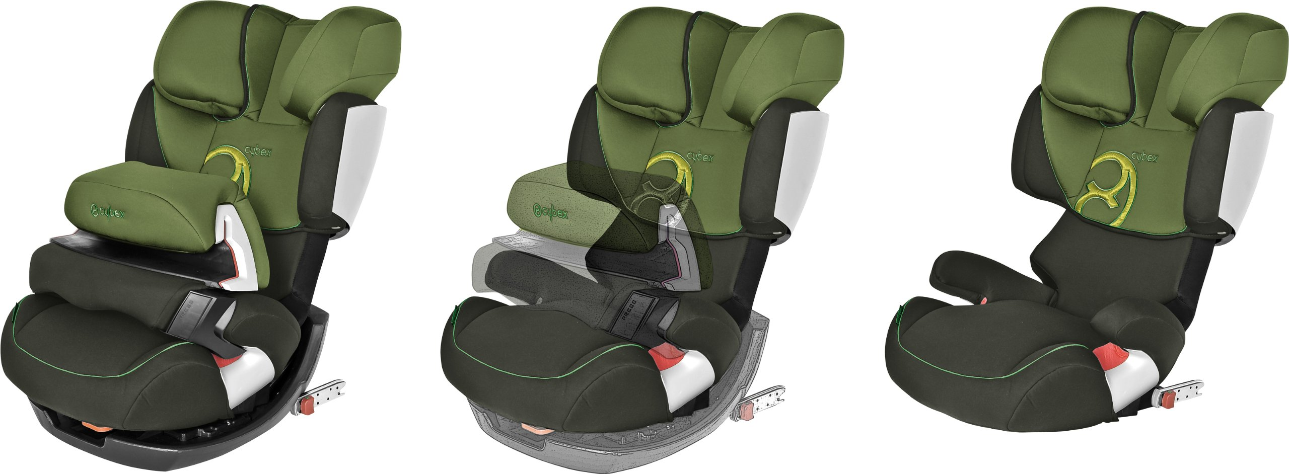 CYBEX Silver Pallas-Fix 2-in-1 Child's Car Seat, For Cars with and without ISOFIX, Group 1/2/3 (9-36 kg), From approx. 9 Months to approx. 12 Years, Rumba Red Cybex Sturdy and high-quality child car seat for long-term use - For children aged approx. 9 months to approx. 12 years (9-36 kg), Suitable for cars with and without ISOFIX Maximum safety - Depth-adjustable impact shield, 3-way adjustable reclining headrest, Built-in side impact protection (L.S.P. System) 11-way height-adjustable comfort headrest, One-hand adjustable reclining position, Easy conversion to Solution X-Fix for children from 3 years (group 2/3) by removing impact shield and base, Adjustable backrest 9