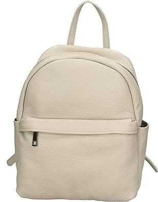 Aren - Backpack Borsa Zaino da Donna in Vera Pelle Made in Italy - 35x31x13 Cm