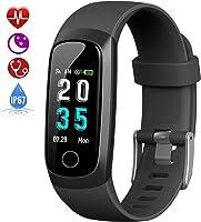 HETP Fitness Tracker, Orologio Fitness Braccialetto Pressione Sanguigna Cardiofrequenzimetro da Polso Impermeabile IP67...