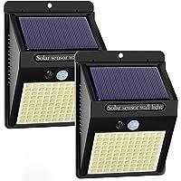 Luce Solare LED Esterno [2 Pezzi], Kolpop Lampade Solari da Giardino 100LED Luci Solari Lampade Sensore di Movimento…