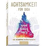 Achtsamkeitskärtchen: Achtsamkeit für dich - 50 Karma-Kärtchen: Schön gestaltete Achtsamkeitskarten in Geschenkbox zur Stress