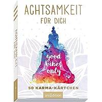 Achtsamkeit für dich. 50 Karma-Kärtchen: Schön gestaltete Achtsamkeitskarten in Geschenkbox zur Stressbewältigung im…
