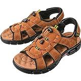 gracosy Mens Sandals Summer Shoes Open Toe Walking Flat Sandals Shoes Lightweight Non-Slip Hiking Trekking Hook Loop Straps B