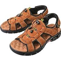 gracosy Mens Sandals Summer Shoes Open Toe Walking Flat Sandals Shoes Lightweight Non-Slip Hiking Trekking Hook Loop…