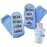 Cadeau pour femme avec inscription en allemand « WENN DU DAS LESEN KANNST BRING MIR WIN / CAFE/CHOKI/CHOKI/BUCH »