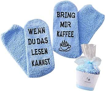 Geschenk für Frauen, WENN DU DAS LESEN KANNST BRING MIR WEIN/KAFFEE/BUCH SOCKEN, witziges Geburtstagsgeschenk für Freundin, Schwester-Geschenk