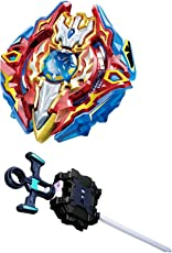 Beyblade Gyro Battling Burst Starter Sieg Xcalibur Top Beyblade with Launcher Grip (Grip:Black) - Pack of 1