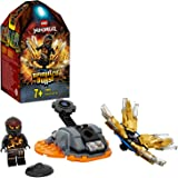 Ninjago Action Toy Spinjitzu Explosivo: Cole Set Spinner Ninja, color negro (Lego ES 70685)