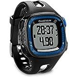 Garmin Forerunner 15 Montre de course à pied GPS et suivi d'activité Noir/bleu Taille L (certifié reconditionné)