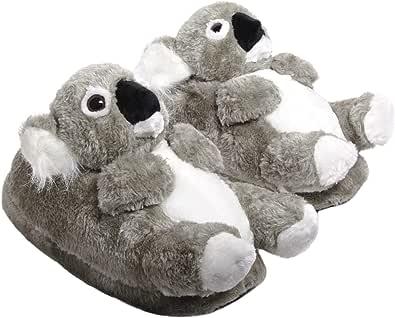 Sleeper'z - Pantofole Peluche a Forma di Animali Koala - Originale e Divertente per Donna Uomo Bambino