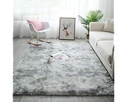 Tinyboy-hbq Area Rugs Fluffy Bedroom Carpet Soft Floor Mat Anti-Slip Living Room Rugs Shaggy Plush Carpets for Living Room Ho
