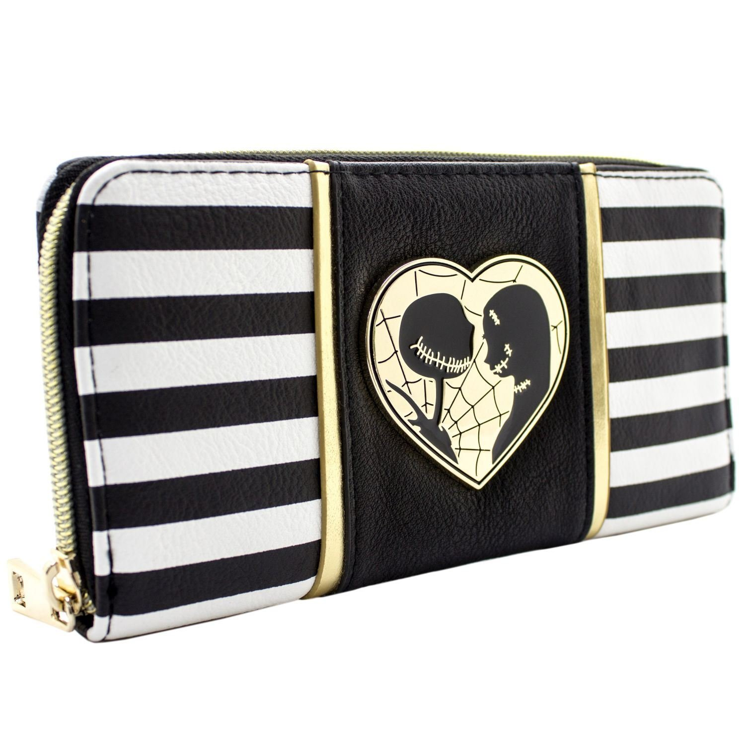 Nightmare Before Christmas Jack Sally Black Coin Card Clutch Purse ...
