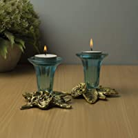 Homesake Metal Antique Candle Stand Grapevine, Pack of 2