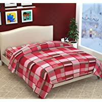 Fabture Razai Cover Double Bed with Zipper (Quilt Cover Double Bed with Zipper) (Double Bed Dohar Blanket) (Pink)