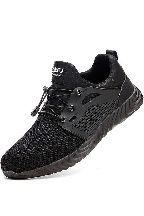 Zapatillas de Seguridad Hombre,Trabajo con Puntera de Acero ...