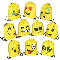 FORMIZON Set di 10 Emoji Borse Sacca, Coulisse Sportiva Sacche con Coulisse Sacchetto del PE per Bambini per Festa…
