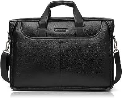 BOSTANTEN Mens Leather Laptop Bag 15.6 Inch Messenger Shoulder Bag Business Briefcase Handbags Office Work Bag