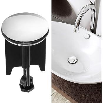 4802a6815b06a0 Bonde lavabo, innislink Bouchon de lavabo avec Trop-plein Haute Qualité  Bouchon de Bouchon