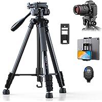 KINGJOY Kamera Stativ 152 cm Aluminium Lightweight Stativ Tragfähigkeit 5KG für Canon Nikon DSLR Smartphone Tablet mit…