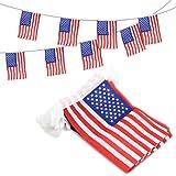 ANLEY USA Estados Unidos Banderines Banderas con Cordel, Eventos Patrióticos 4 de Julio Día de la Independencia Decoración Sp