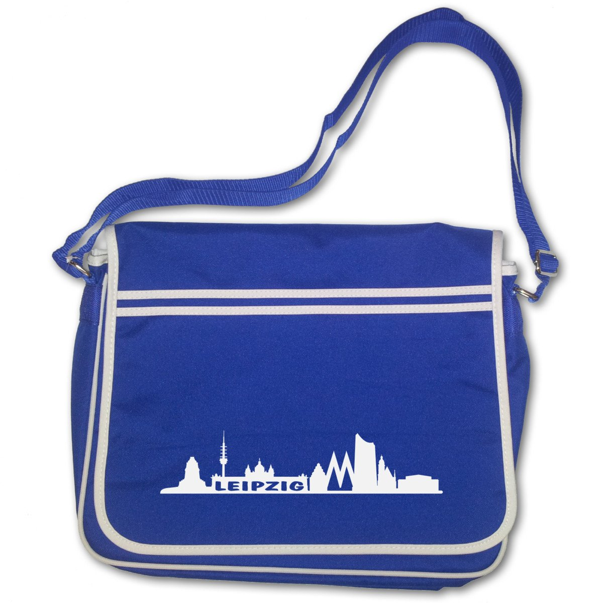 Freizeittasche Leipzig Skyline Schultasche  4 Farben Freizeittasche Tasche Retro
