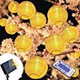 infinitoo Solar String Lights 6 m 30 LED Outdoor Lanterns 5.5 V Waterproof Warm White LED Decor Lighting for Party for Yard P