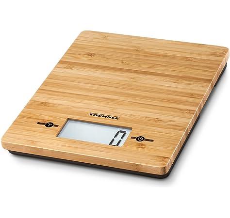 Stube Bilancia da cucina digitale elettronica Peso Max 5 kg Estetica Bamboo 560