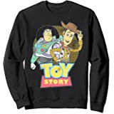 Disney Pixar Toy Story Buzz Woody Distressed Retro Sweatshirt