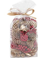 Deco aro Pine Cone Potpourri - 200 GMS - Wine/Cranberry Fragranced in PVC Pouch