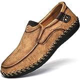 Mocassini Oxford Vintage da Uomo Scarpe Casual Passeggio Estive Scarpe alla Moda per Il Tempo Libero in Pelle Barca