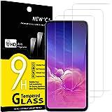 NEW'C 3 Unidades, Protector de Pantalla para Samsung Galaxy S10e, Antiarañazos, Antihuellas, Sin Burbujas, Dureza 9H, 0.33 mm