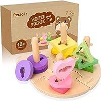 Peradix Gioco Educativo Puzzle Legno - Forme Geometriche a Incastro - Giocattoli Educativi per Bambini
