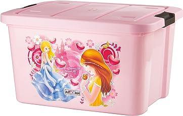Uberlyfe Multi Purpose Kids Toy Storage Box - Plastic (25 Ltr. Pink) (Ny-001545-Tybx25L-Pk)