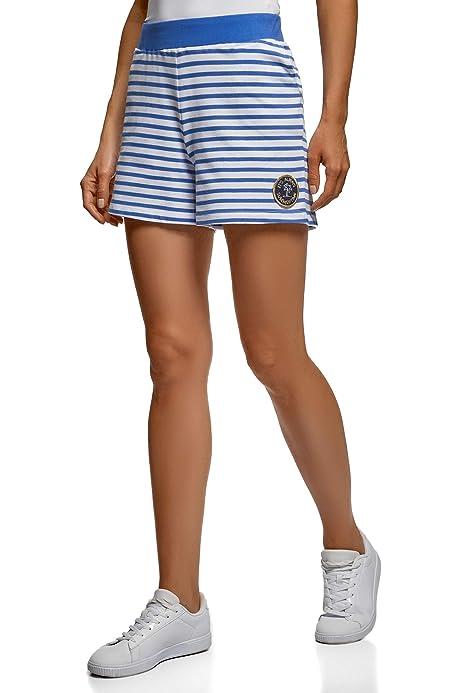 oodji Ultra Mujer Pantalones Cortos Estampados de Algodón, Gris, ES 42 / L: Amazon.es: Ropa y accesorios