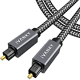 iVANKY Cavo Ottico Audio Digitale Toslink - Cavo Audio Ottico [ Suono Incredibile, 24K connettori ] Cavo Ottico Compatibile p