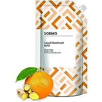 Amazon Brand - Solimo Handwash Liquid Refill, Orange Ginger - 750 ml