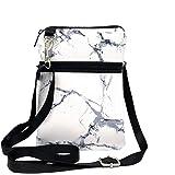 KOSTOO - Borsa a tracolla per iPhone X/XR/8/8 Plus/7/7 Plus e Samsung, piccola borsa a portafoglio da donna